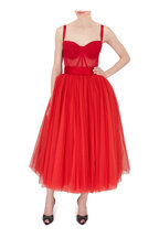 Dolce & Gabbana - Bright Red Bambola Tulle Dress