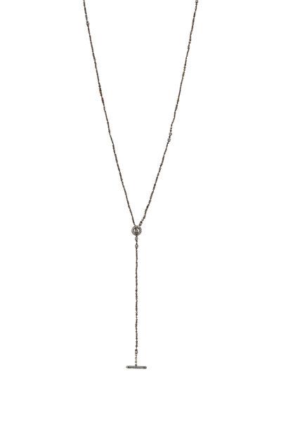 Yossi Harari - Vera Gold & Silver Brown Diamond Wrap Necklace