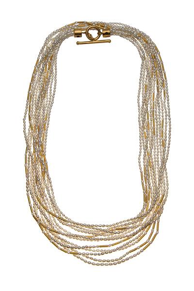 Yossi Harari - Yellow Gold Bamboo Strand Wrap Necklace