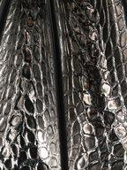 Alexander McQueen - Silver Croc Embossed Leather Knuckle Shoulder Bag
