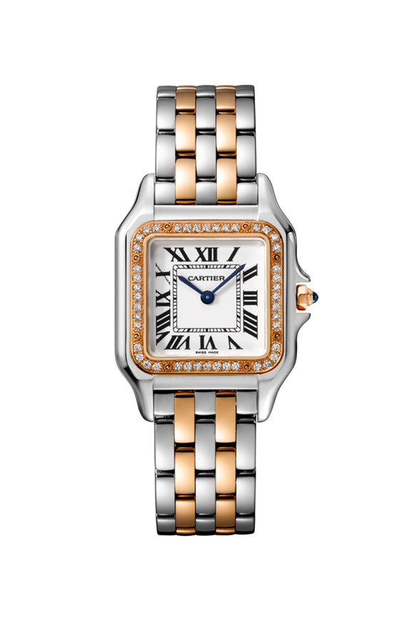 Cartier Pink Gold, Steel & Diamond Panthére Medium Watch