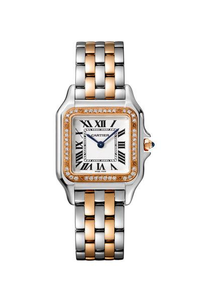 Cartier - Pink Gold, Steel & Diamond Panthére Medium Watch
