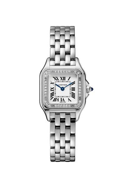 Cartier - Steel & Diamonds Panthére Small Watch