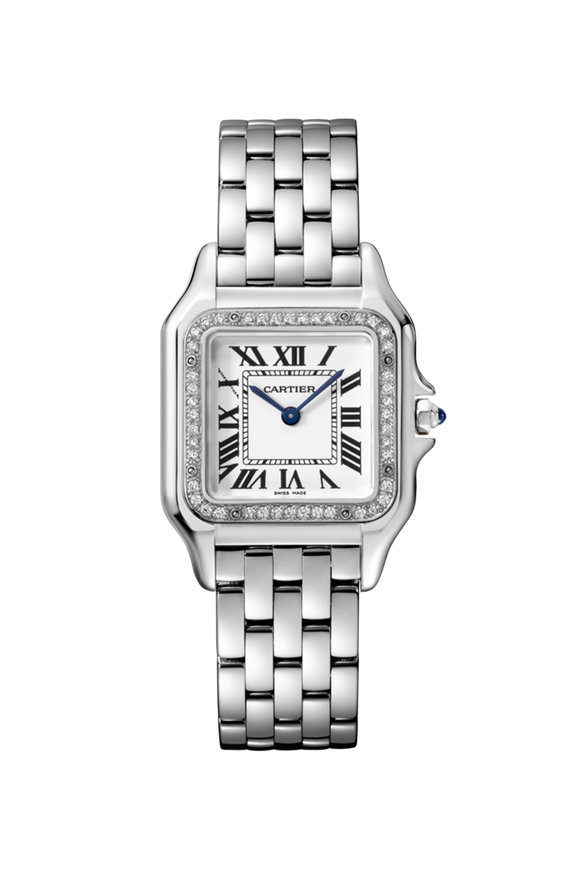 Cartier Steel & Diamonds Panthére Medium Watch