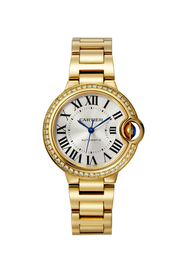 Cartier Gold & Diamond Ballon Bleu De Cartier Watch