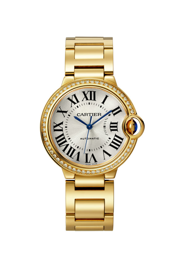 Cartier 18K Yellow Gold Ballon Bleu Diamond Watch, 36mm