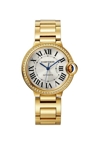 Cartier - 18K Yellow Gold Diamond Ballon Bleu Watch, 36mm