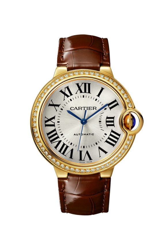 Cartier Yellow Gold & Diamond Ballon Bleu De Cartier Watch