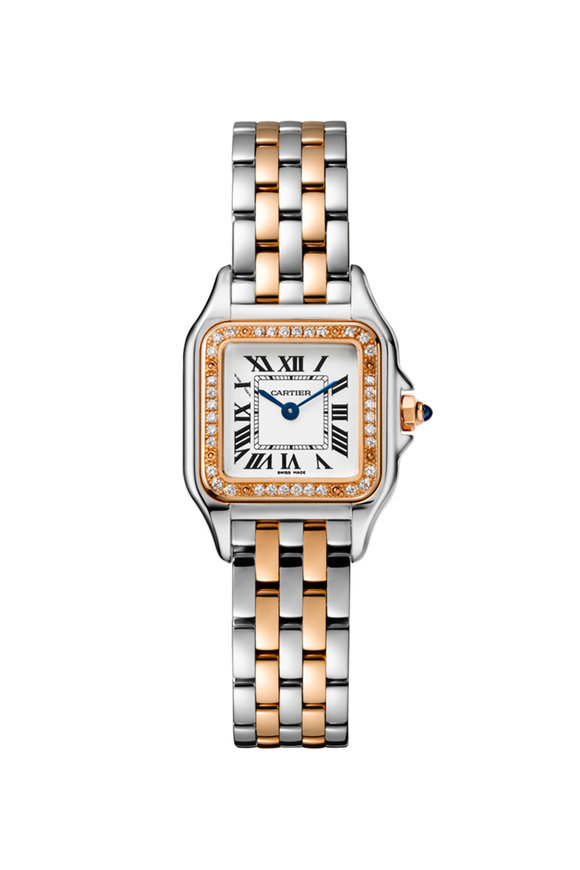 Cartier Pink Gold, Steel & Diamond Panthére Small Watch