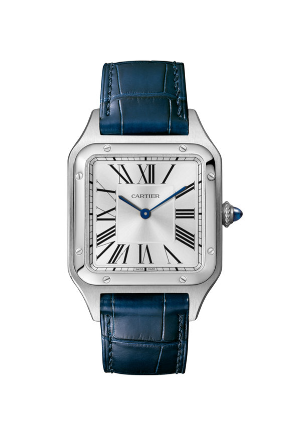 Cartier Steel & Leather Santos-Dumont Large Watch
