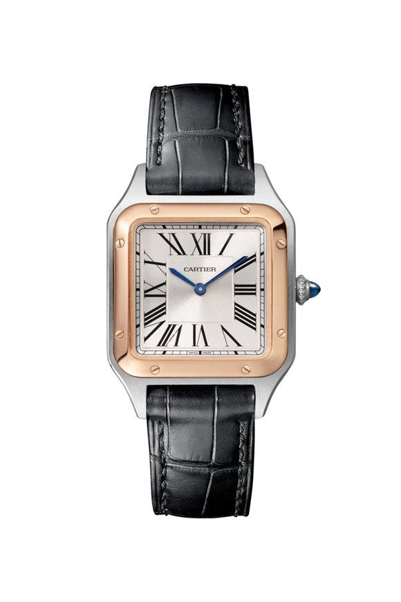 Cartier 18K Pink Gold & Steel Santos-Dumont Watch