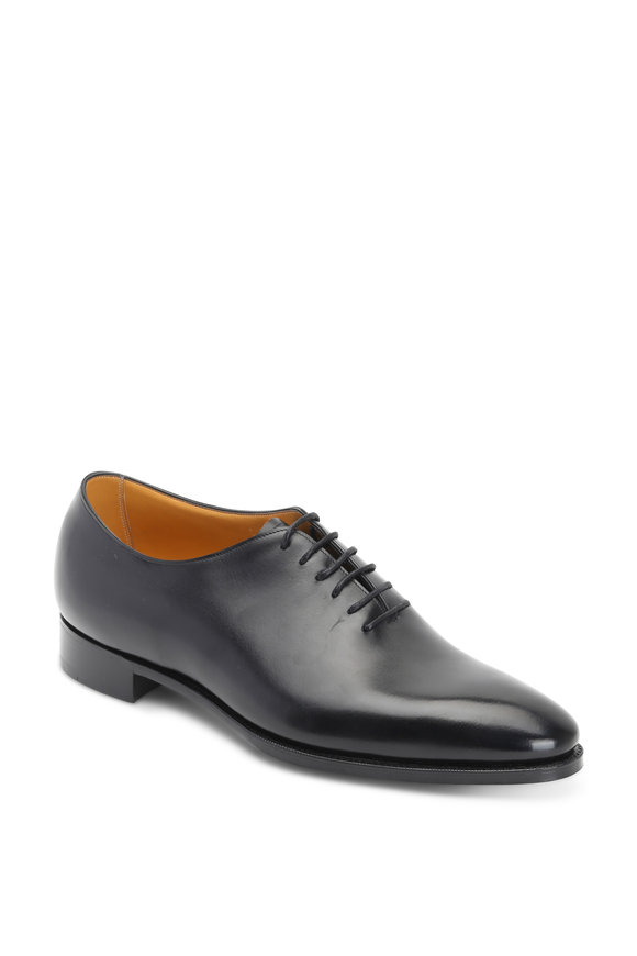 Gaziano & Girling Sinatra Black Leather Dress Shoe