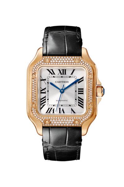 Cartier - Pink Gold & Diamonds Santos De Cartier Watch