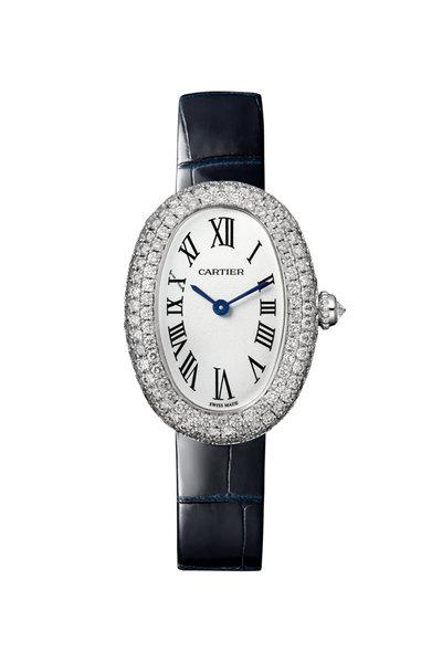 Cartier - Rhodiumized White Gold Baignoire Watch