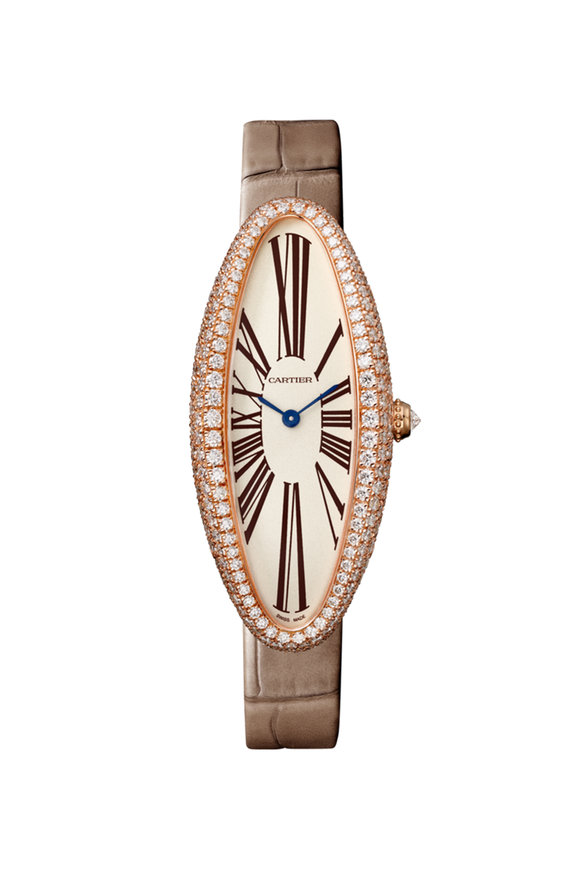 Cartier 18K Pink Gold Baignoire Allongée Watch