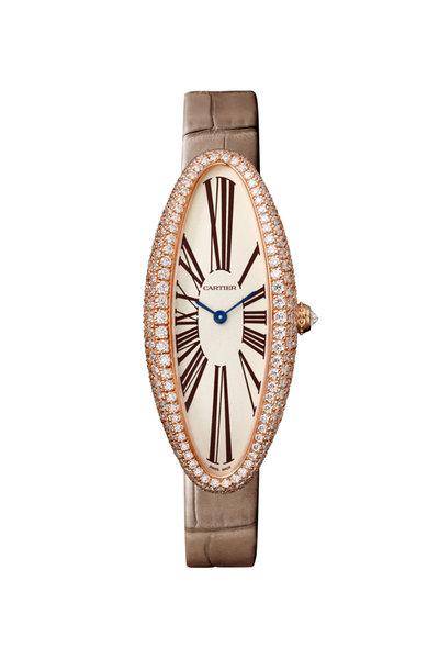 Cartier - 18K Pink Gold Baignoire Allongée Watch