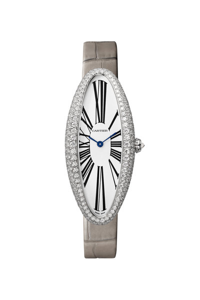 Cartier - Rhodiumized White Gold Baignoire Allongée Watch