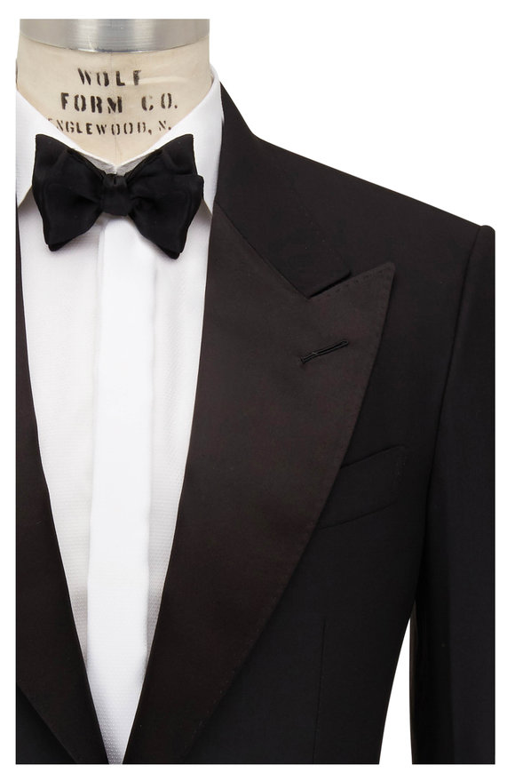 Tom Ford Black Stretch Wool Tuxedo