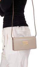 Tom Ford - TF Taupe Silk Leather Mini Crossbody