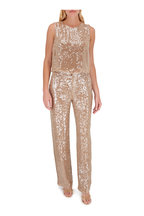 Sally LaPointe - Camel Sequin High-Rise Pant
