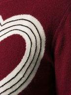 Chinti & Parker - Berry, Cream & Black Heart Print Sweater