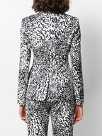 Escada - Brikenati Black & White Animal Print Jacket