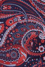 Brioni - Navy & Orange Paisley Silk Necktie