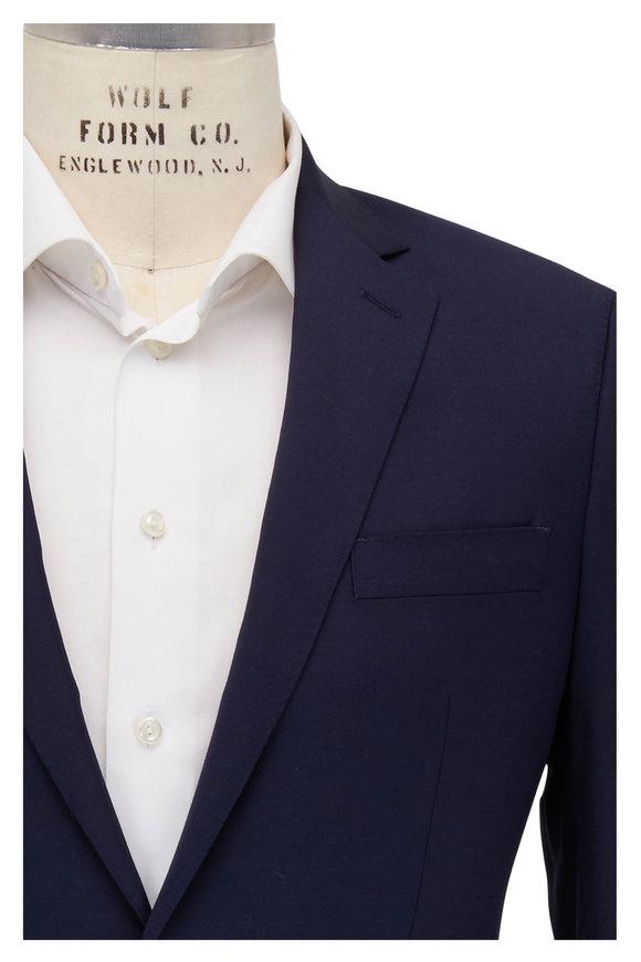 Atelier Munro Medium Solid Blue Stretch Wool Suit