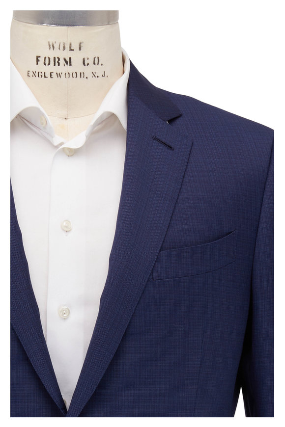 Ermenegildo Zegna Navy Blue Microtic Wool Suit