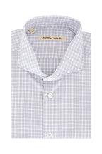 Maurizio Baldassari - Light Gray Tattersall Sport Shirt