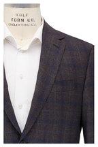 Maurizio Baldassari - Brown & Blue Plaid Wool Sportcoat