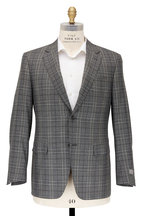 Canali - Green Wool & Cashmere Plaid Sportcoat