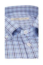 Maurizio Baldassari -  Navy Blue Plaid Sport Shirt