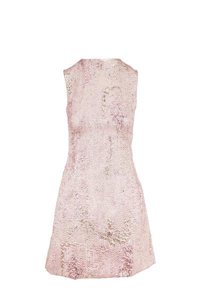 Dolce & Gabbana - Metallic Rose Gold Jacquard Sleeveless Dress