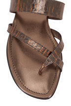 Manolo Blahnik - Susa Bronze Snakeskin Thong Sandal