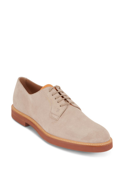 Tod's - Sand Suede Derby Shoe