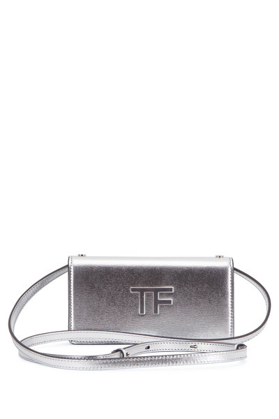 Tom Ford - TF Metallic Silver Leather Mini Crossbody