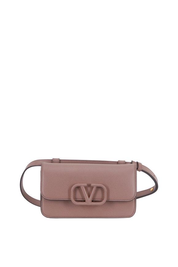 Valentino Garavani V-Sling Clay Leather Logo Belt Bag