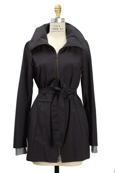 Elizabeth Roberts - New Voyager Black Belted Coat