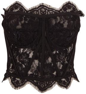 Dolce & Gabbana Black Lace Strapless Bustier