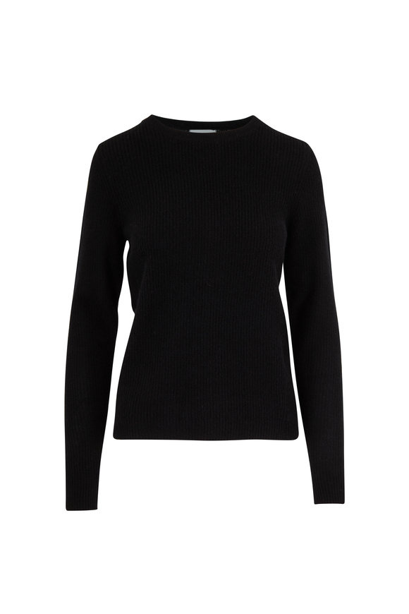 Le Kasha Dublin Black Cashmere Fitted Sweater