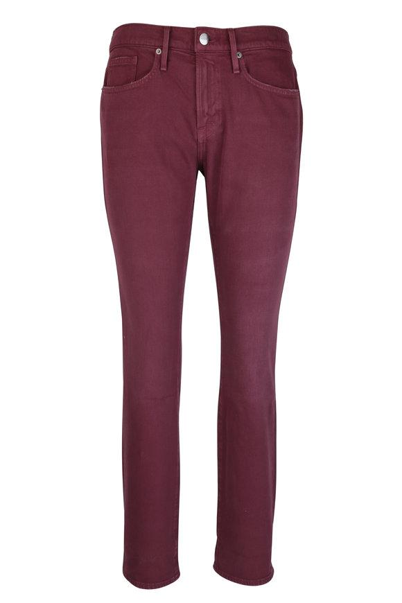 Frame L'Homme Burgundy Slim Fit Jean