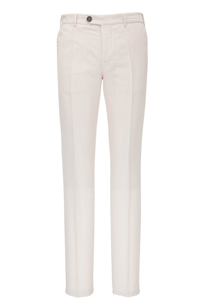 Brunello Cucinelli - Off-White Cotton Linen Pant