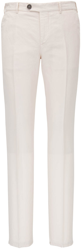 Brunello Cucinelli Off-White Cotton Linen Pant