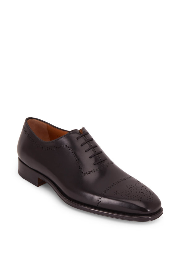 Magnanni Leyton Black Leather Wingtip Oxford