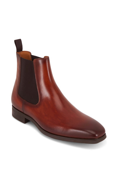 Magnanni - Riley Cognac Burnished Leather Chelsea Boot