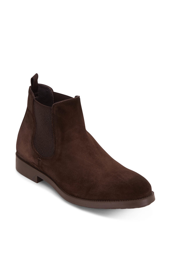 To Boot New York Arion Dark Brown Suede Chelsea Boot