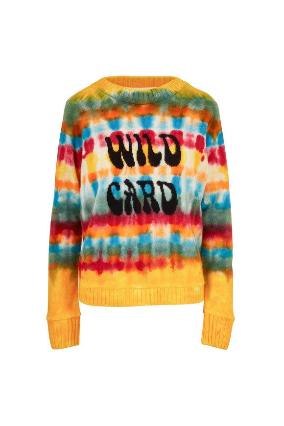 The Elder Statesman Wacky Wild Card Flower Power Cashmere Sweater