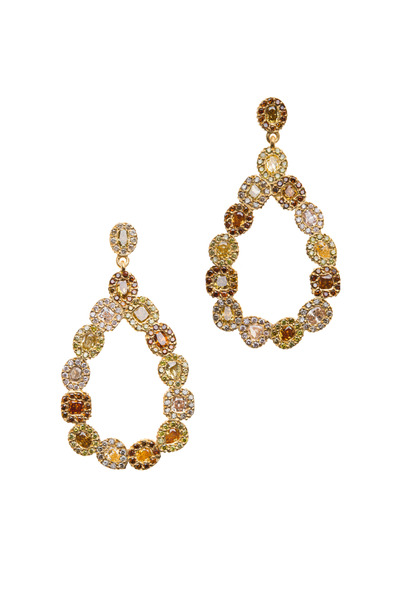 Yossi Harari - Clara Gold Pear Shape Chandelier Diamond Earrings