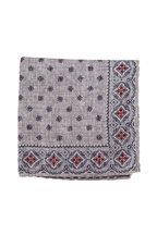 Brunello Cucinelli - Gray Gingham Silk Pocket Square